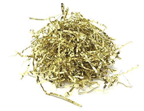Metallic Gold Easter Grass Basket Filler/Gift Bag Shred - 3 Oz -