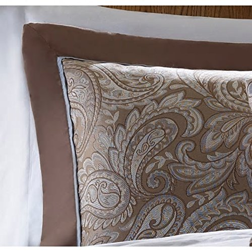 Look Of Elegance Traditional Design Blue King 12-Piece Bed In A Bag With Sheet Set Soft Beautiful Rich Hotel Bedspread Professional Gorgeous Addition To Bedroom Madison Park Attractive Bedding by PH (Image #2)