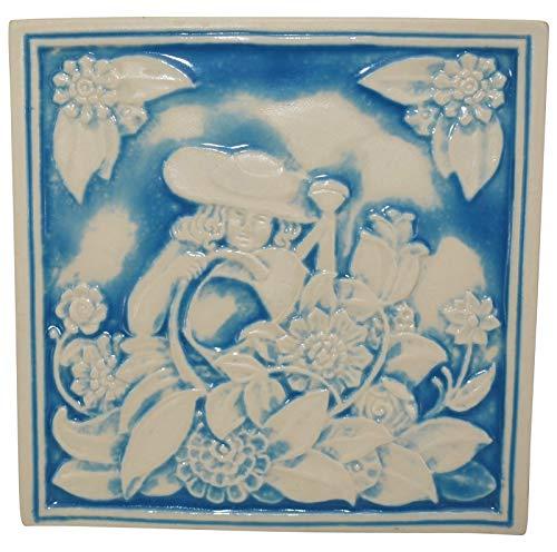 (Rookwood Pottery 1998 Watering Flowers Trivet 6781)