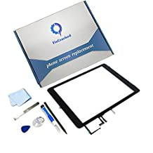 iPad air Screen Replacement,FixCracked iPad air Digitizer Touch Screen Front Glass Assembly Black-Includes Home Button + Camera Holder with tools kit