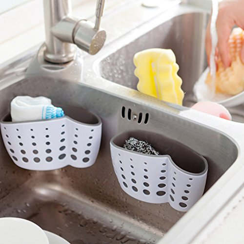 Tebatu Sink Caddy Double Layer Sponge Holders For Bathroom Kitchen Organization Baskets by Tebatu (Image #2)