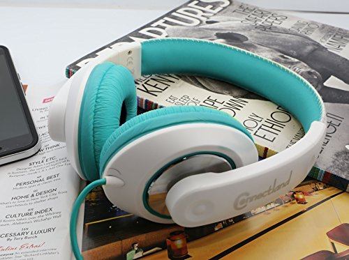 Connectland Stereo Wired Headphone & Microphone Lightweight 40mm Speaker Music Gaming Stylish Teal CL-AUD63035 by Connectland (Image #4)