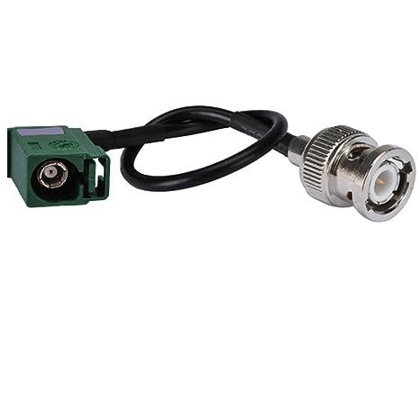 12 RF conjunto de Cable Coaxial Cable eléctrico BNC macho a ángulo recto de Fakra