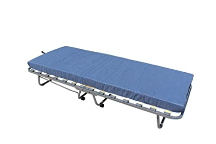 Veraflex Colonia cama invitados, metal marco antracita, colchón gris ...