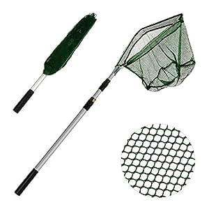 Xunma fishing landing net with telescoping for Amazon fishing net