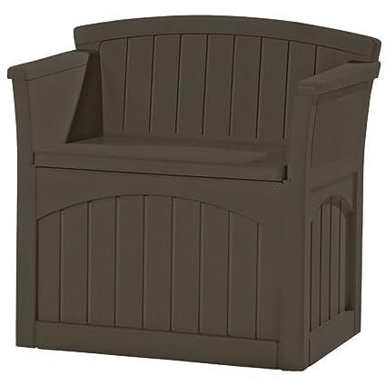 Amazon Com Deck Storage Box Bench Seat 31 Gal Outdoor Storage
