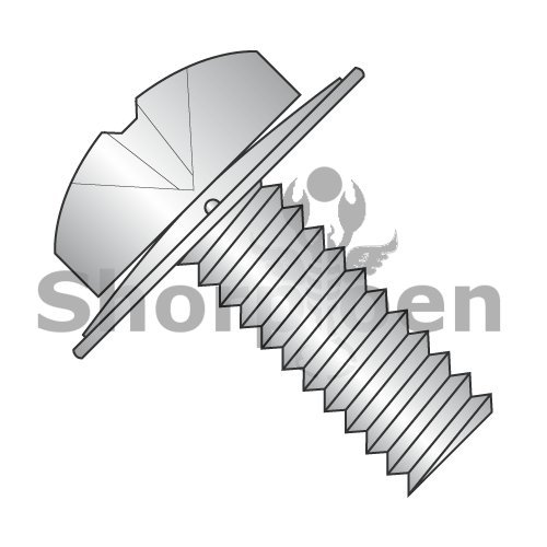 Phillips Pan Square Cone 410 Stainless Steel Sems Fully Threaded 18-8 Stainless Steel 6-32 x 7/16 BC-0607CPP188 (Box of 5000) weight 13.41 Lbs by Shorpioen