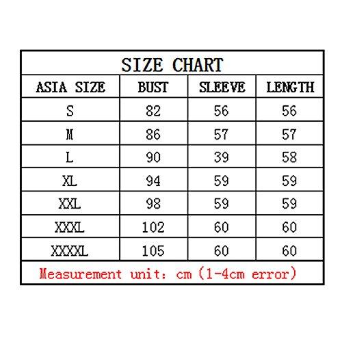 manica lunga Maglietta - SODIAL(R)Maglietta in Lace Scollatura a Barca manica lunga in Pizzo Donna -nero XXXL