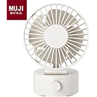 MUJI Low Noise USB Desk Fan White W4.0in x D3.1in x H5.4in