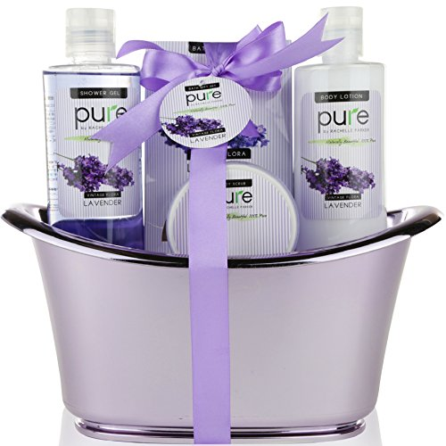 Lavender Essential Oil Spa Basket! Redefine Luxury with the Ultimate Lavender Spa Gift Basket. Voted #1 bubble bath set for bath & body Gift Set!