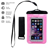 Waterproof Case,ebow Armband Sweatproof Case for Apple Iphone 6s/6/5/4,samsung and Other Smartphone,protective Life Pouch Cover with Touch Responsive Clear Screen Protector (Two)