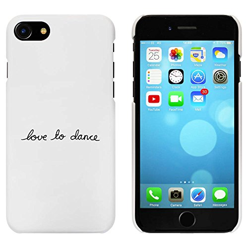 Blanc 'Love To Dance' étui / housse pour iPhone 7 (MC00068820)