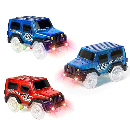 DOMIRE 3 Pack Car Track Replacement Toy Car Glow in The Dark Racing Track Accessories Compatible with Most Tracks