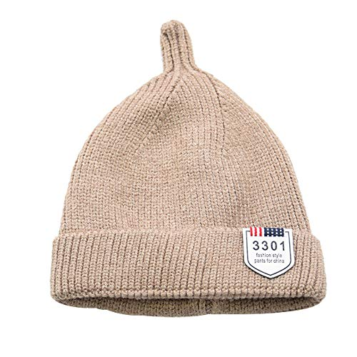Little Baby Cute Winter Warm Hat,Jchen(TM) 1 PC Baby Toddler Girls Boys Infant Warm Winter Knit Beanie Hat Crochet Ski Ball Cap 6-12 Months (Khaki)