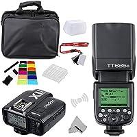 Fomito Godox TT685C E-TTLII 2.4GHz Wireless Master /External AutoFlash Speedlite &X1T-C Transmitter Trigger HSS for Canon EOS Rebel T6i T6S T5 6D 70D 7D 5DIII 5DS 1DX cameras, 580EXII 600EX-RT flashes