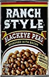 Ranch Style Blackeye Peas with Bacon 15 Ounce Can (Pack of 6)