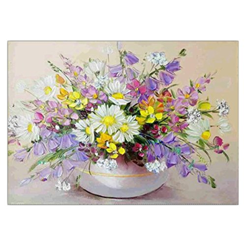 FORESTIME 5D Diamond Painting Kits,30X40cm Flower and Vase Full Drill Diamond Painting Cross Kits Stitch Set Rhinestone Embroidery for Wall Decoration Home Decor