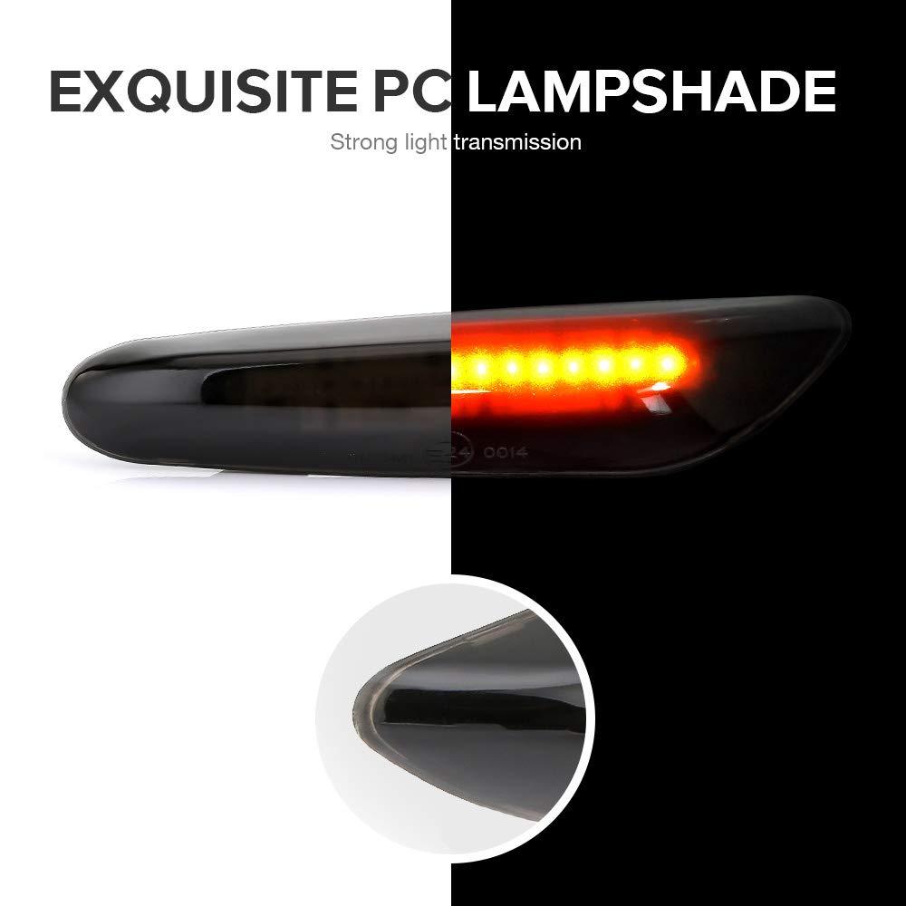 Lot de 2 Clignotants lat/éraux /à LED pour BMW E90 E91 E92 E93 E60 E87 E82 E46