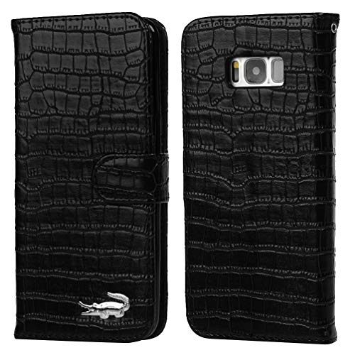 Samsung Galaxy S8 Plus Case, Crocodile Pattern Wallet Soft PU Leather Case with Kickstand Function Card Holder and ID Slot Slim Flip Protective Case