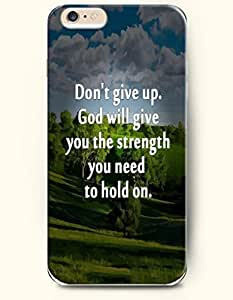iPhone Case, SevenArc iPhone 6 (4.7) Hard Case **NEW** Case with the Design of Don't give up.God will give you the... by supermalls