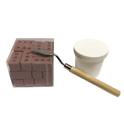Amazon.com: Fan-Ling Mini juego de ladrillo y mortero de ...