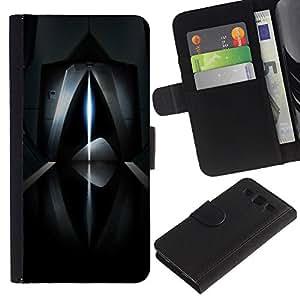 WINCASE (No Para S3 Mini) Cuadro Funda Voltear Cuero Ranura Tarjetas TPU Carcasas Protectora Cover Case Para Samsung Galaxy S3 III I9300 - rayo láser abstracto oscuro futurista