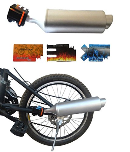 BlueSunshine Bicycle Exhaust Pipe with Turbine Motorcycle So