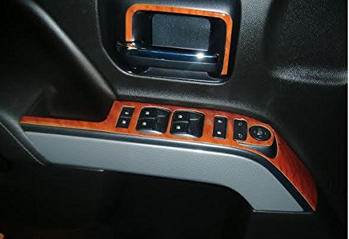 Chevy Chevrolet Silverado Interior Burl Wood Dash Trim Kit Set 2014 2015 2016 2017 2018 Buy