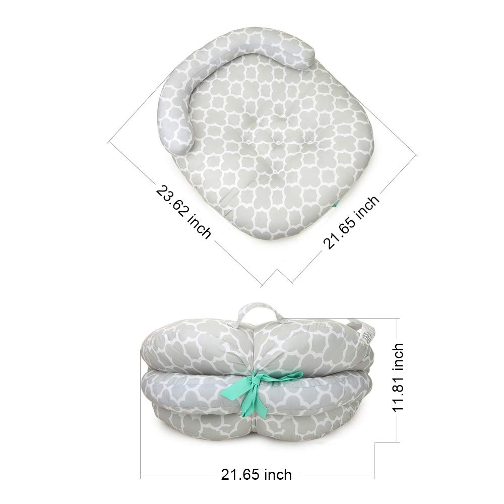 LOHOME Newborn Sleep Positioner Anti-Spitting Milk Pillow Portable Baby Sleeping Pad Cushion Mattress for Toddlers by LOHOME (Image #4)