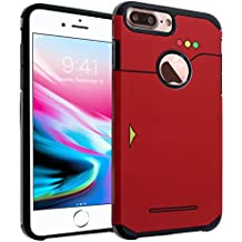 iPhone 8 Plus Case, DURARMOR Pokemon Go Pokedex Dual Layer Hybrid ShockProof Ultra Slim Fit Armor Air Cushion Defender Protector Cover for iPhone 8 Plus Pokedex