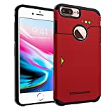 iPhone 8 Plus Case, DURARMOR Pokedex Dual Layer Hybrid Shockproof Ultra Slim Fit Armor Air Cushion Defender Protector Cover for iPhone 8 Plus Pokedex