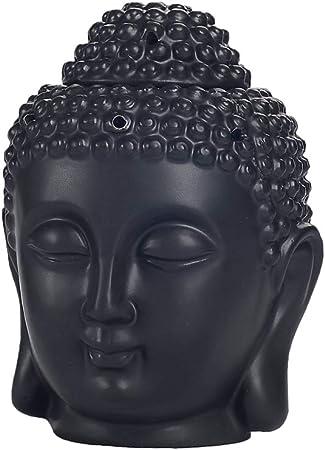 Ysoom Lámpara aromática de cerámica, cabeza de Buda, vela ...