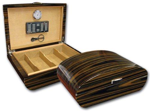 Prestige Import Group Waldorf Cigar Humidor w/ Ebony Lacquer Finish & Polished Hardware by Prestige Import Group