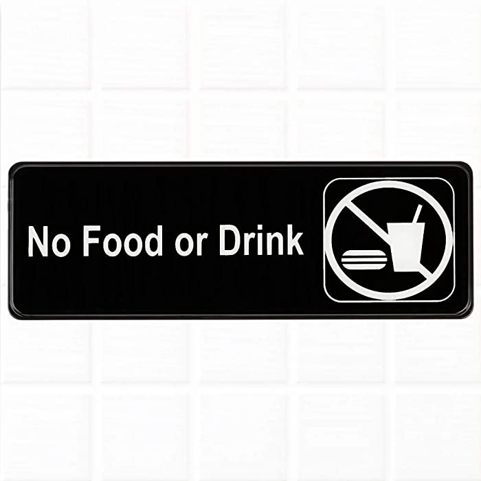 The Best No Food Or Drink Sign Sticker