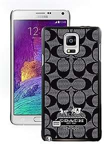 Custom Designed Coach Black Samsung Galaxy Note 4 N910A N910T N910P N910V N910R4 Screen Phone Case Fashion and Luxurious Case