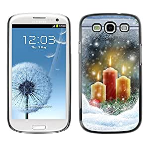 YOYO Slim PC / Aluminium Case Cover Armor Shell Portection //Christmas Holiday Snow Candles Window 1196 //Samsung Galaxy S3