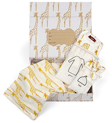 Milkbarn Newborn Keepsake Set - Yellow Giraffe