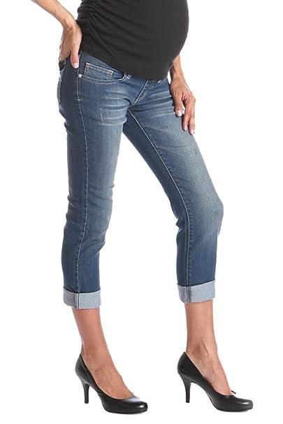 147ee28a05 Lilac Slim-Fit Low-Rise Boyfriend Maternity Jeans - Blue - XXL ...