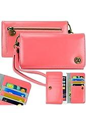 Caseen Bella Smartphone Clutch Wristlet Wallet Case - Coral