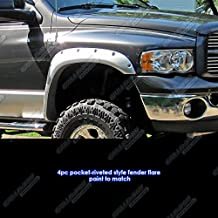 APS Reinforced ABS Fender Flares Riveted 4Pcs For 02-08 Dodge Ram 6.5ft Bed