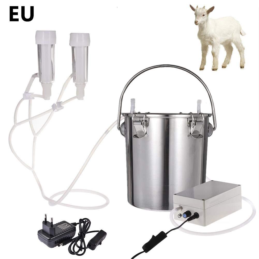 Minear Melkmaschine el/éctrica 5.5L Acero Inoxidable Milchpumpe Regulables Haushaltssabsaugung Vakuumpumpe Melkmaschine para Vaca Oveja Cabra