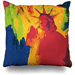 ONELZ Peter Max Artwork Style Mojo Square Decorative Throw Pillow Case, Fashion Style Zippered Cushion Pillow Cover £¨18 x 18 inch£