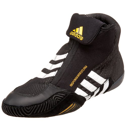 adidas Men's Response Wrestling Shoe,Black/White/Gold,8 M US in ...