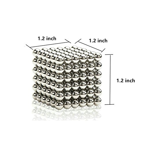 O-Toys Magnetic Balls Magnet Sculpture Creative Learning Educational Toy Building Blocks Puzzle Toys Anxiety Stress Relief Fidget Toys Home Office Decoration (5mm, Set of 216 Balls)