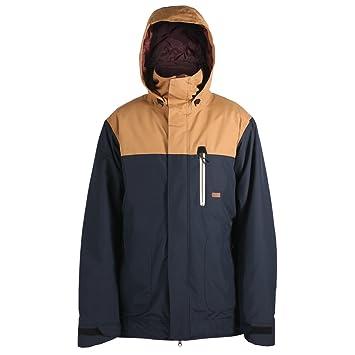 Ride chaqueta de snowboard para mujer, algodón HILLMAN., hombre, Navy/Camel: Amazon.es: Deportes y aire libre