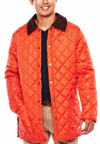 a810d4f38990 JCP Mens Quilted Lightweight Jacket Size X-Large XL Orange – Travel Hiking  Working