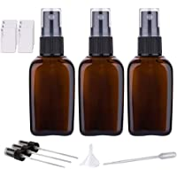 Small Empty Glass Spray Bottles For Essential Oils, Amber Glass Spray Bottle with Fine Mist Sprayer (1.7oz 3Pack)
