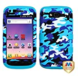 galaxy blaze cover - MyBat Samsung T769 (Galaxy S Blaze 4G) TUFF Hybrid Phone Protector Cover - Retail Packaging - Aquatic Camouflage/Tropical Teal
