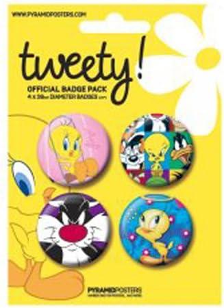 Looney Tunes Chapas Pin Set (Pack de 4 Pins) Tweety Pyramid International: Amazon.es: Deportes y aire libre