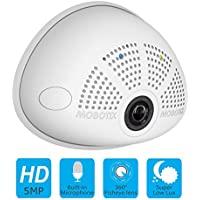 MOBOTIX i25-D12-PW 5MP IP Indoor Hemispheric Security Camera with HD Microphone & L12 Day Sensor – Made in Germany